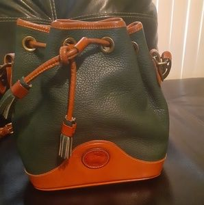 Hunter green  Dooney & Burke classic bucket bag